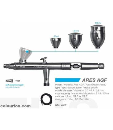 Airbrush Set ARES AGF - Gravity-Feed