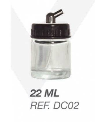 Crystal Bottle for airbrush 22cc