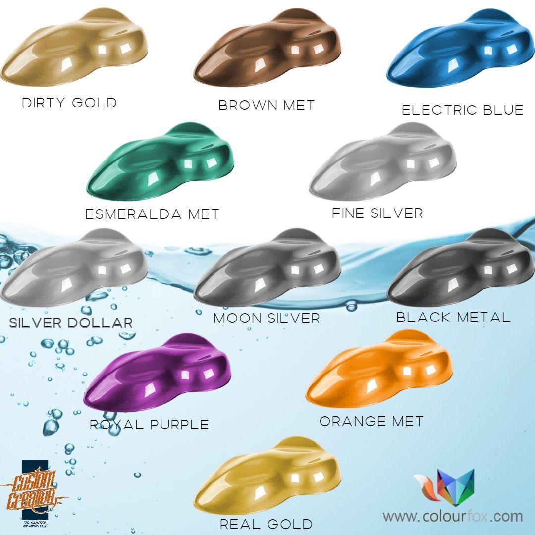 Gama de colores metálicos de Custom Creative en Colourfox - Barcelona, España