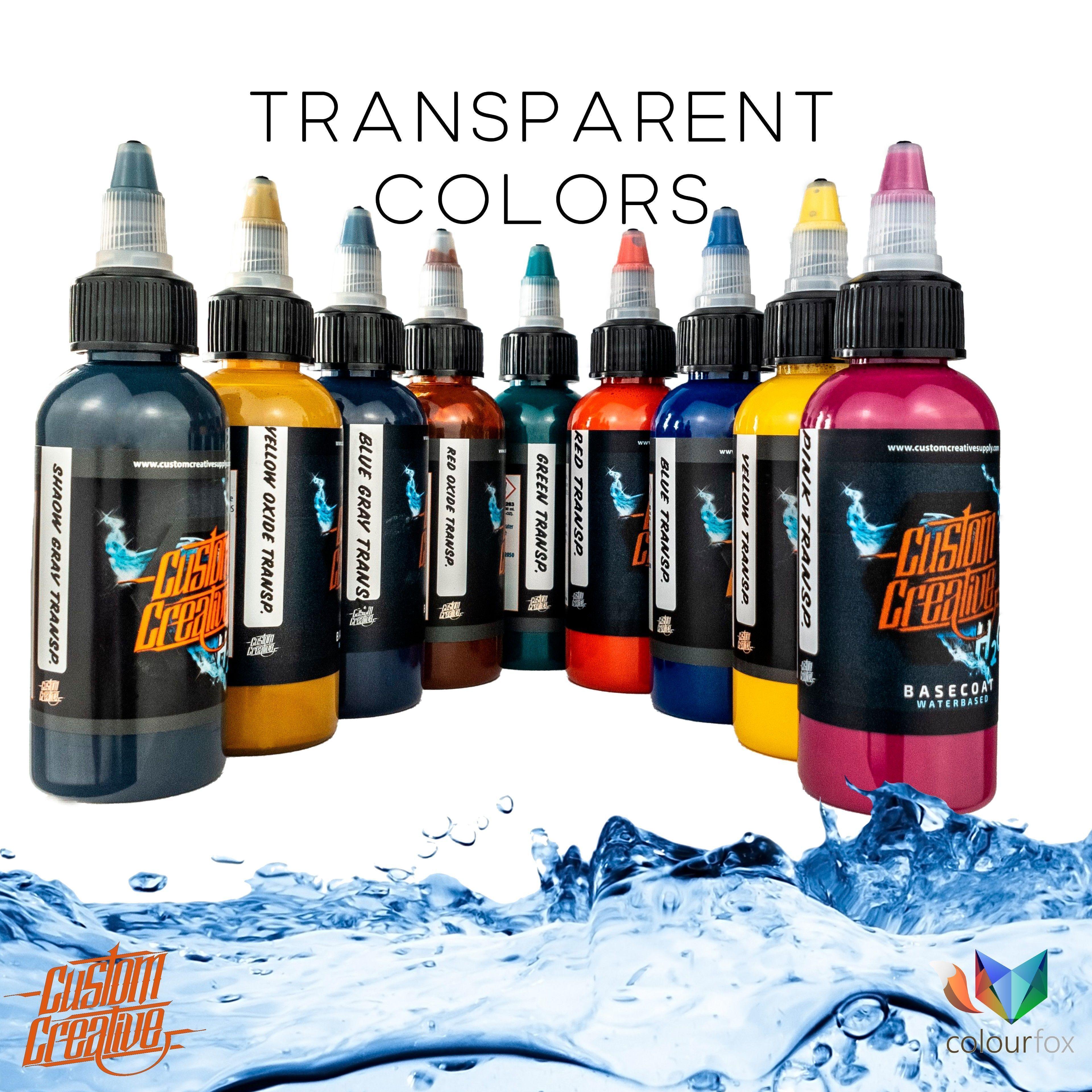 Transparent Colors - Custom Creative en Colourfox Paints