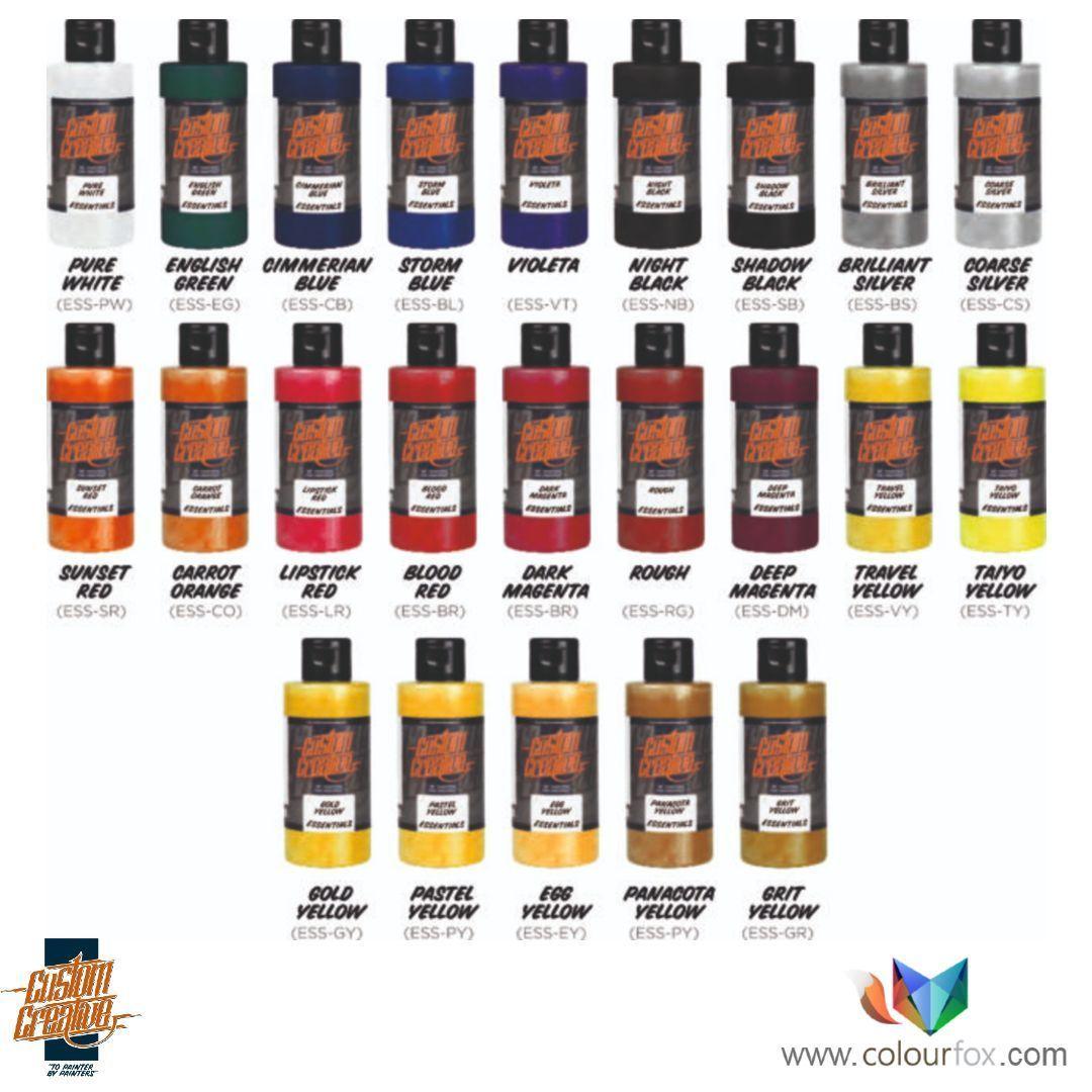 Essential Line de Custom Creative base disolvente en Colourfox Paints
