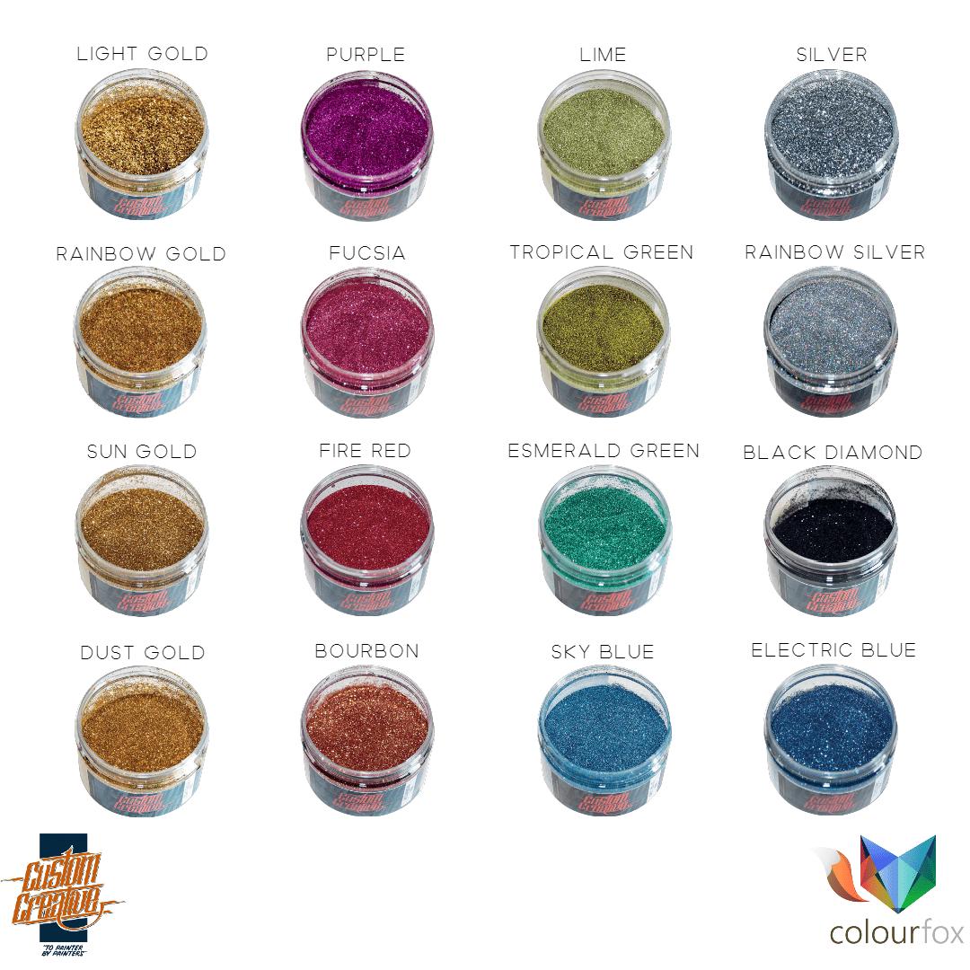 Gama de colores Flakes de Custom Creative en Colourfox