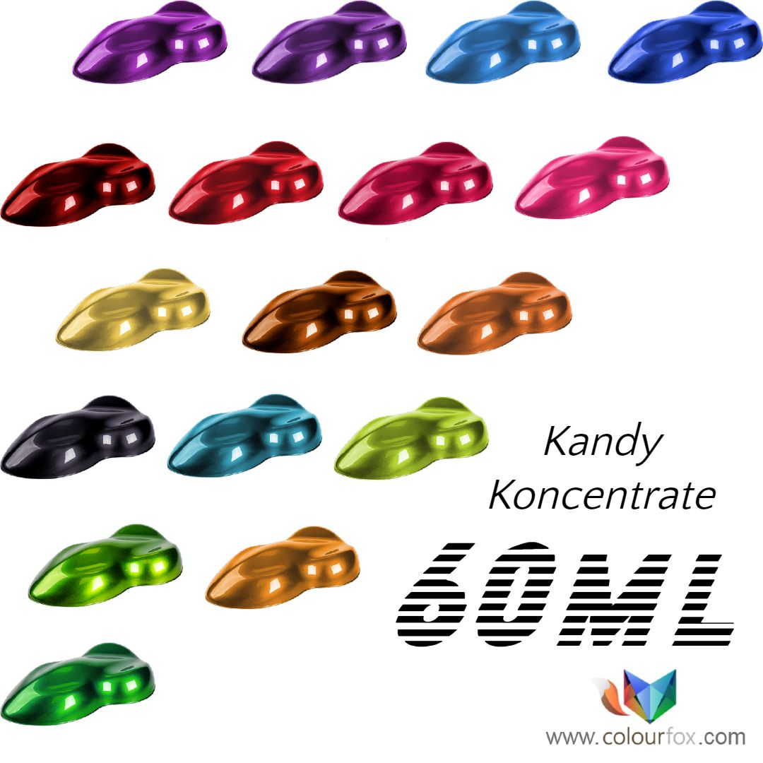 Kandy Koncentrate Colors Fox Line of Colourfox Paints 60ml format in Barcelona Spain