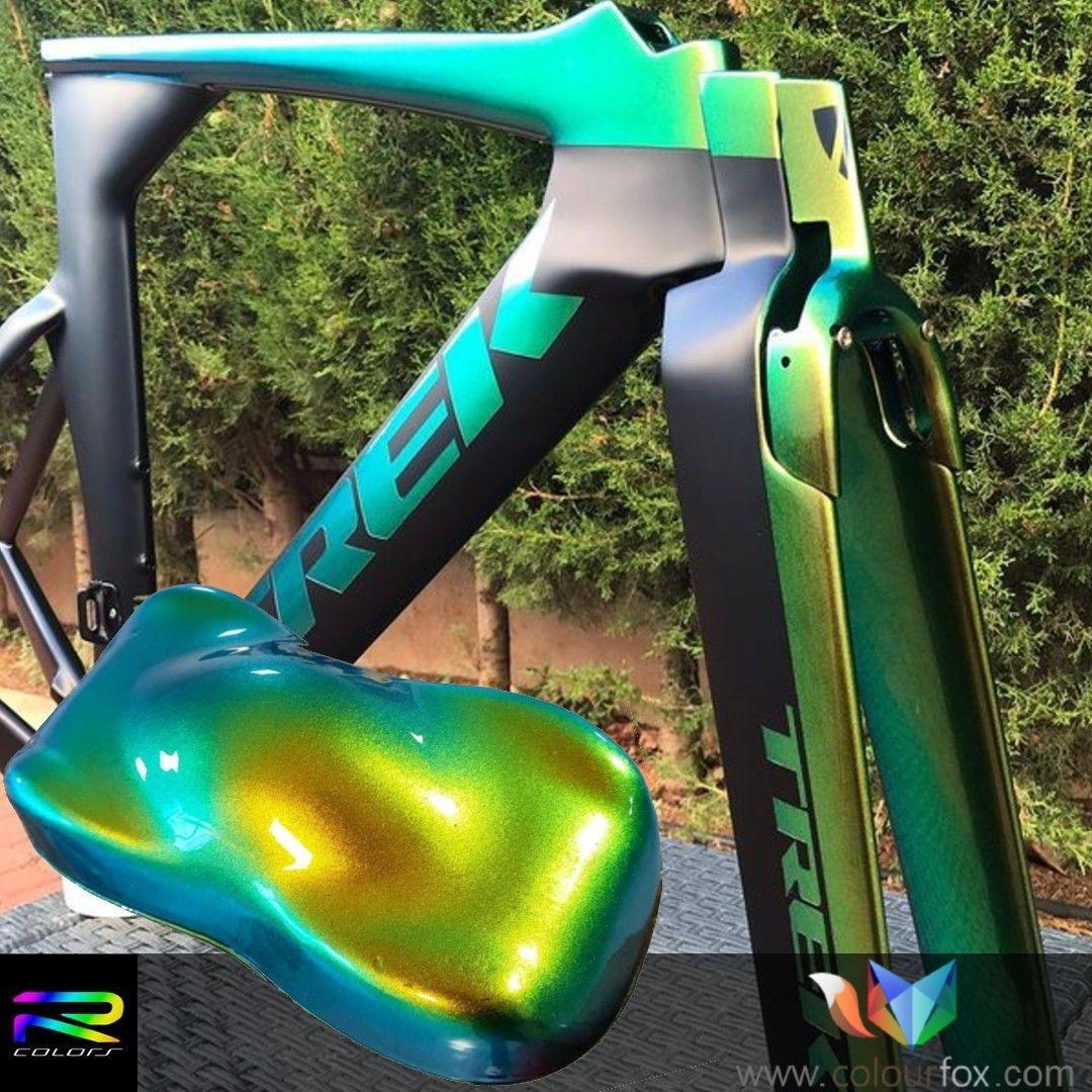 Custom bike kameleon kolor blue gold green kf kustom paint